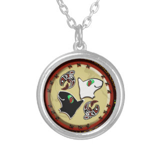 NW Miniature bull terrier logo photoshop 300 dpi n Necklace