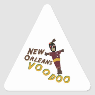 Nw Orleans Voodoo Doll Triangle Sticker