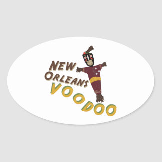 Nw Orleans Voodoo Doll Oval Sticker