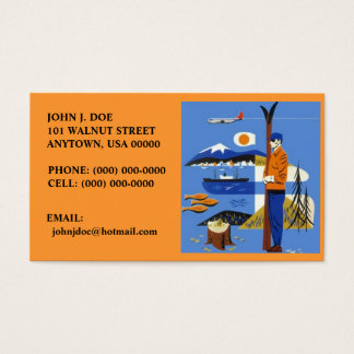 NW RETRO STYLE AIRPLANE SKIS SHIP BUSINESS CARDS! BUSINESS CARD