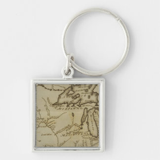NW Territory Silver-Colored Square Keychain