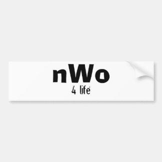 nWo, 4 life Bumper Sticker