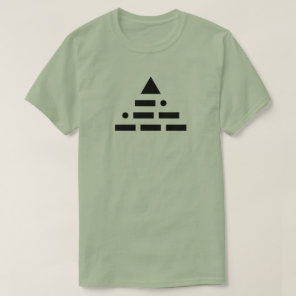 NWO (morse code) pyramid T-Shirt