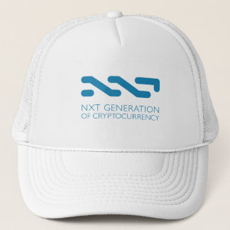 NXT Generation of Cryptocurrency Trucker Hat White