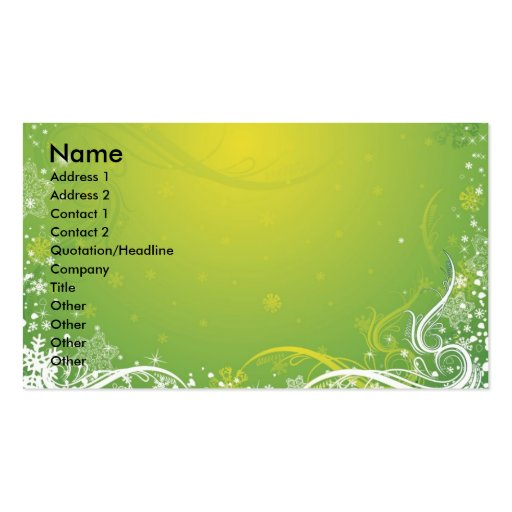 Ny14 , Name, Address 1, Address 2, Contact 1, C... Business Card Template