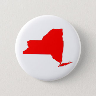 NY a Red State Pinback Button
