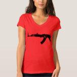 NY AK 47  Womens Bella Vneck T-shirt