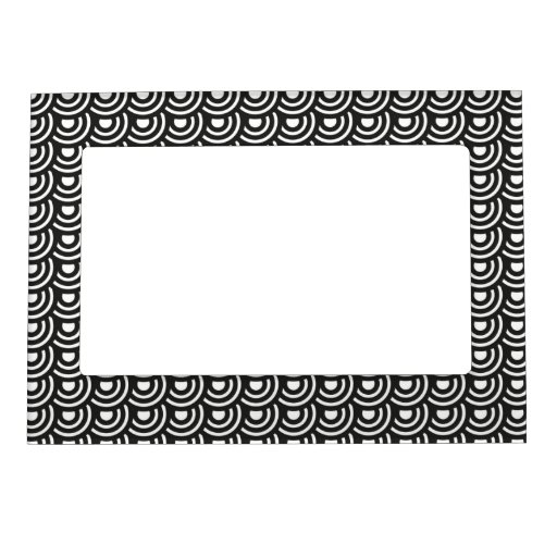 NY Art Deco Metropolitan Modern Black and White Magnetic Picture Frames