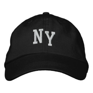 NY Black Men's Cap
