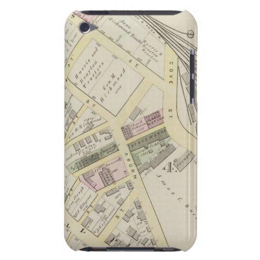 NY Boston y mapa de ferrocarril de Providence Carcasa Para iPod