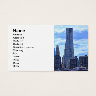 NY By Gehry / 8 Spruce St from the East River A1 Business Card