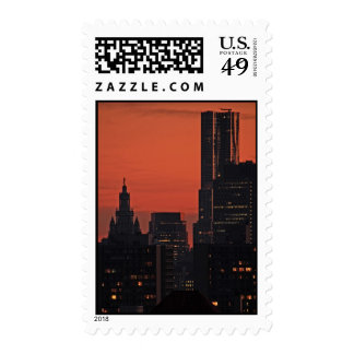 NY By Gehry, Municipal Building at Twilight A1 Stamps