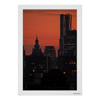 NY By Gehry, Municipal Building at Twilight A1 Poster