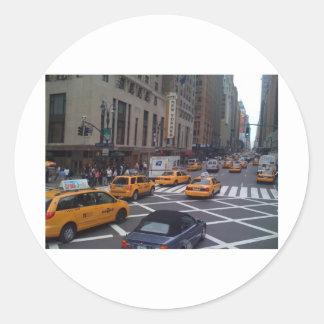 NY cabs Classic Round Sticker