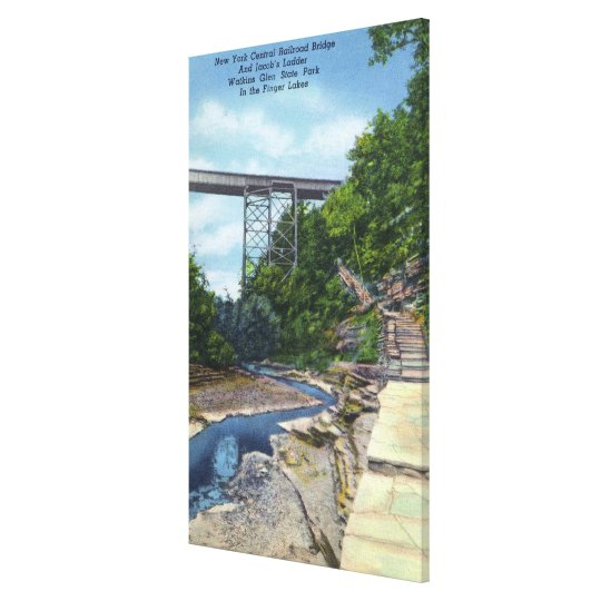 NY Central RR Bridge, Jacob's Ladder Canvas Print