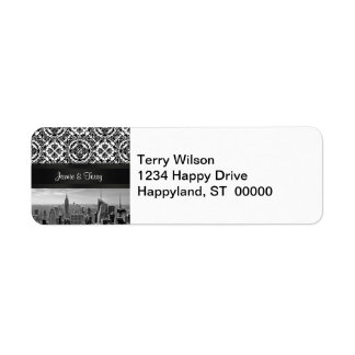 NY City Skyline 431 Customizable Return Address Label