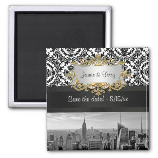 NY City Skyline 431 Customizable Save the Date Refrigerator Magnets
