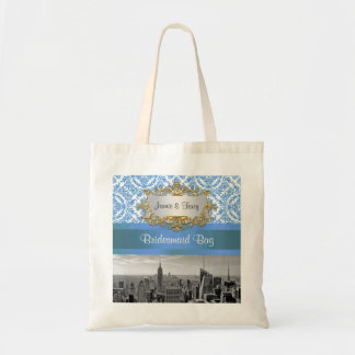 NY City Skyline D4 Customizable Invitation Suite Tote Bag