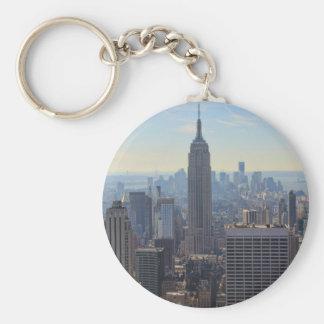 NY City Skyline Empire State Building, World Trade Keychain