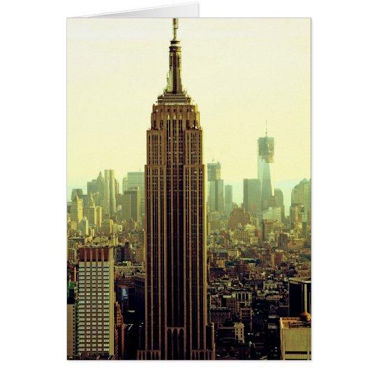 NY City Skyline Empire State Building, WTC 5 Card