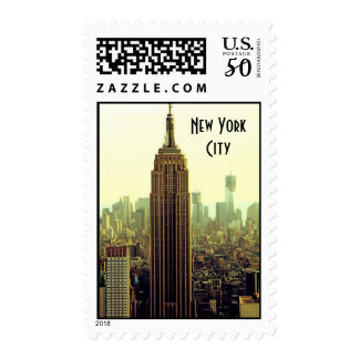 NY City Skyline Empire State Building, WTC 5 Postage