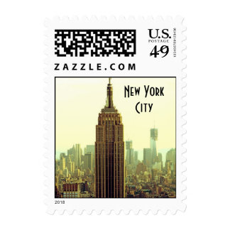 NY City Skyline Empire State Building, WTC 5 small Postage