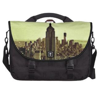 NY City Skyline Empire State Building, WTC 6 Laptop Messenger Bag