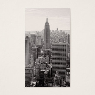 NY City Skyline Empire State Building, WTC BW Business Card