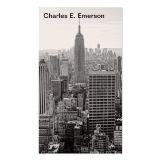 NY City Skyline Empire State Building WTC BW Business Card