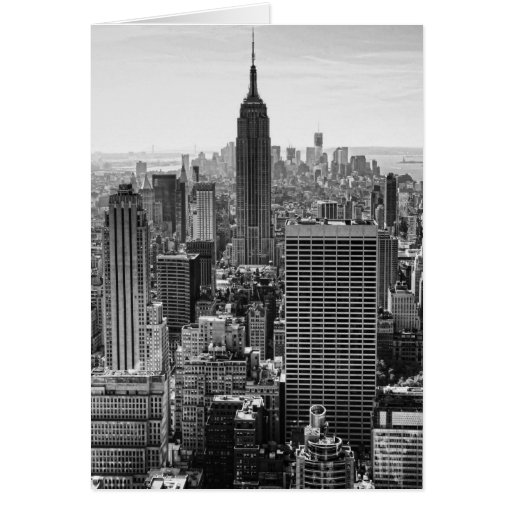NY City Skyline Empire State Building, WTC BW Cards
