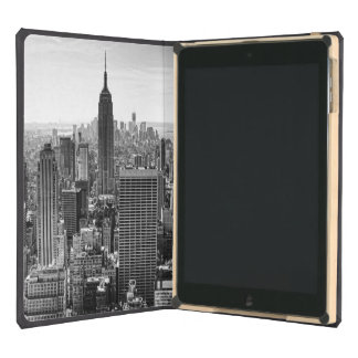 NY City Skyline Empire State Building, WTC BW iPad Covers