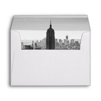 NY City Skyline Empire State Building, WTC BW Envelope