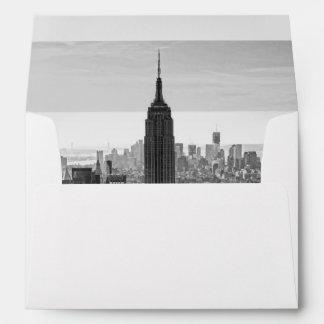 NY City Skyline Empire State Building, WTC BW Envelopes