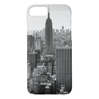 NY City Skyline Empire State Building, WTC BW iPhone 8/7 Case