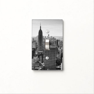 NY City Skyline Empire State Building, WTC BW Light Switch Cover