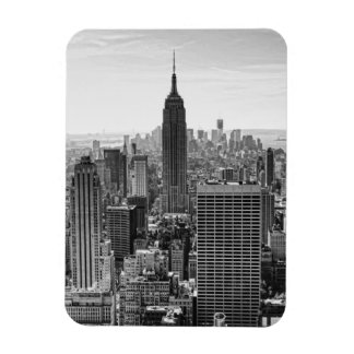 NY City Skyline Empire State Building, WTC BW Magnet