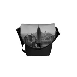NY City Skyline Empire State Building, WTC BW Courier Bags