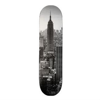 NY City Skyline Empire State Building, WTC BW Skate Board Decks