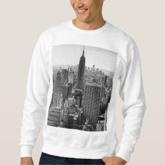 NY City Skyline Empire State Building, WTC BW Sweatshirt