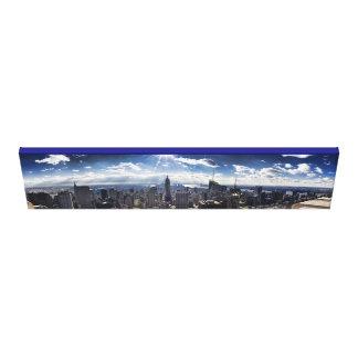 NY City Skyline Panarama Gallery Wrap Canvas