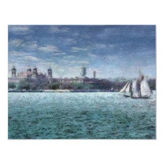 """NY - Ellis Island 4.25"""" X 5.5"""" Invitation Card"""