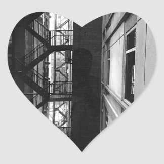 NY Fire Escapes Heart Sticker
