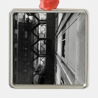 NY Fire Escapes Metal Ornament