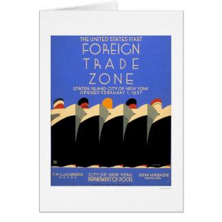 NY Foreign Trade Zone 1937 WPA Card
