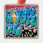 ny graffiti christmas ornaments