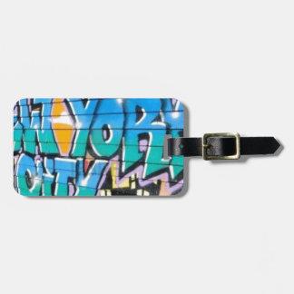 ny graffiti luggage tag