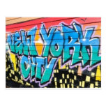 ny graffiti post card
