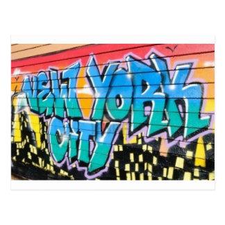 ny graffiti postcard