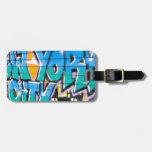 ny graffiti travel bag tag