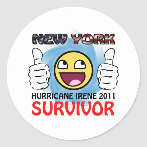 NY Hurricane Irene 2011 Survivor Stickers